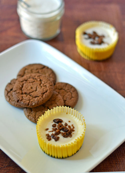 Mini Lemon Cheesecakes with Gingersnap Crust