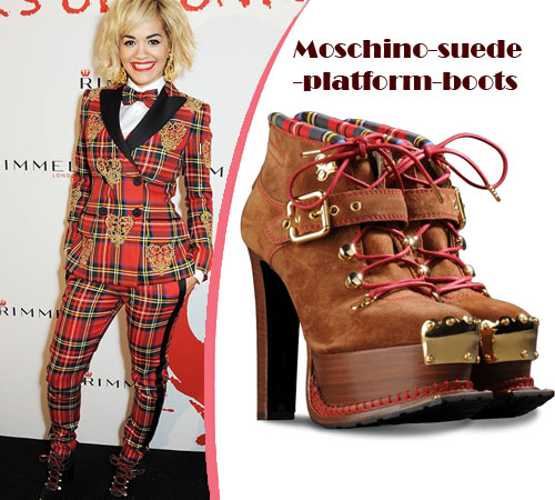 Rita-Ora-in-a-Moschino-Fall-2013-Plaid-Suit