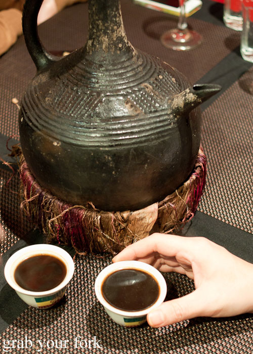 jebena clay coffee pot Jambo Jambo Ethiopian African Restaurant Crows Nest