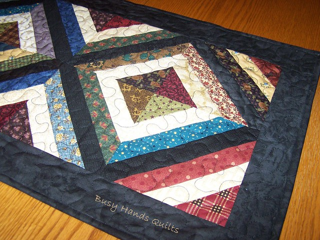 Thimbleberries Scrappy Strip Quilted Table Runner