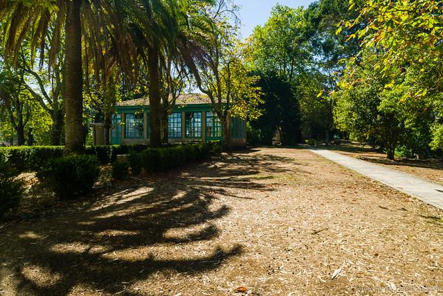 Jardin y cafetería