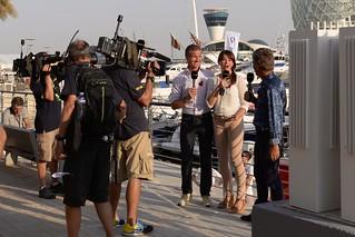 BBC F1 Team - Suzi Perry, David Coulthard and Eddie Jordan