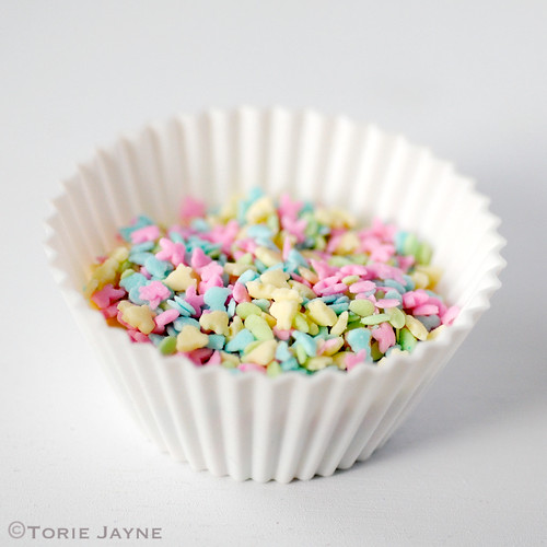 Pastel Easter sugar shapes