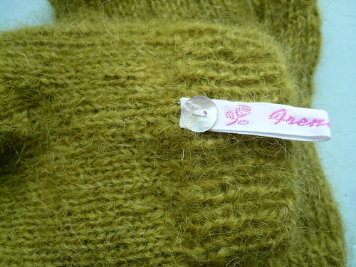Olive mohair label