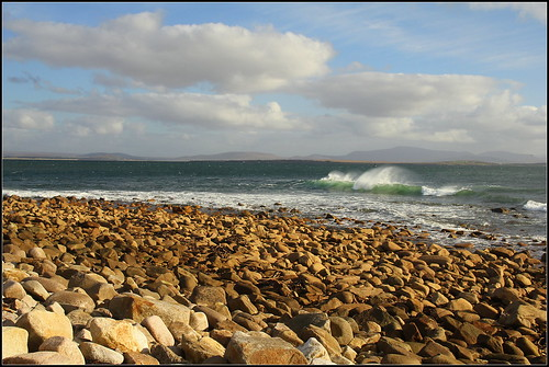ireland sea beach pier wave mayo fa