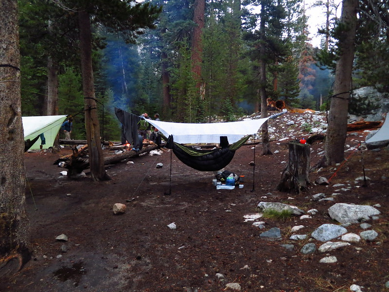 hammock tarps at the woods creek trail campsite