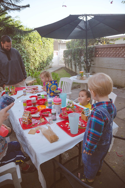 Gingerbread House Playdate Will B&W lightened up-16