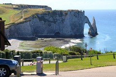Parking Lot with a View in Etretat