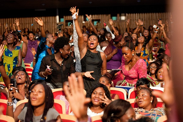Patrons at Becca Girl Talk event last year