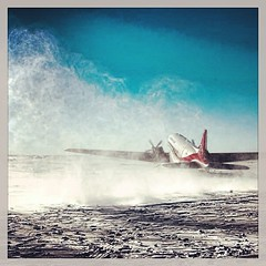 Take off in Antarctica