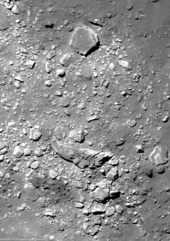 The rim and wall of bright Byrgius A