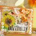 May Arts summe orange handmade card