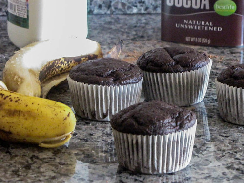 Chocolate, Banana and Buttermilk Muffins