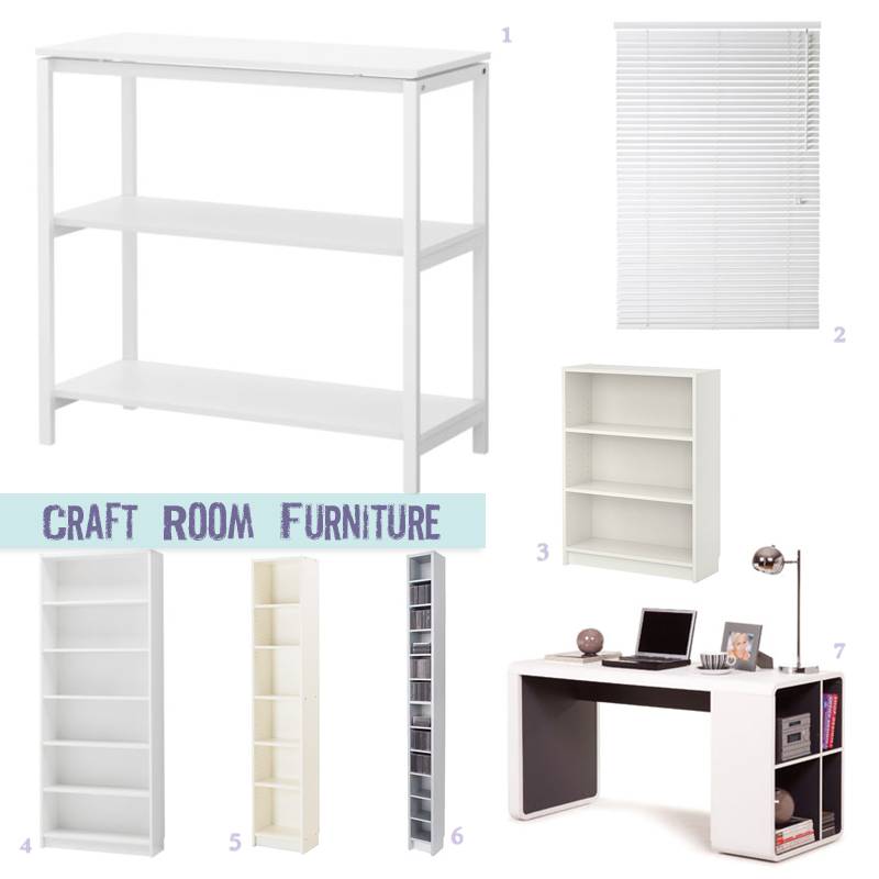 Craft Room: Furniture Source List
