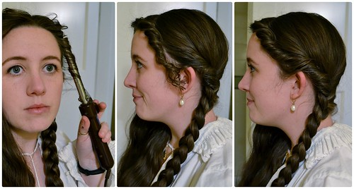 Ironing Curls, 16th Century Italian Braids and Curls on MorganDonner.com