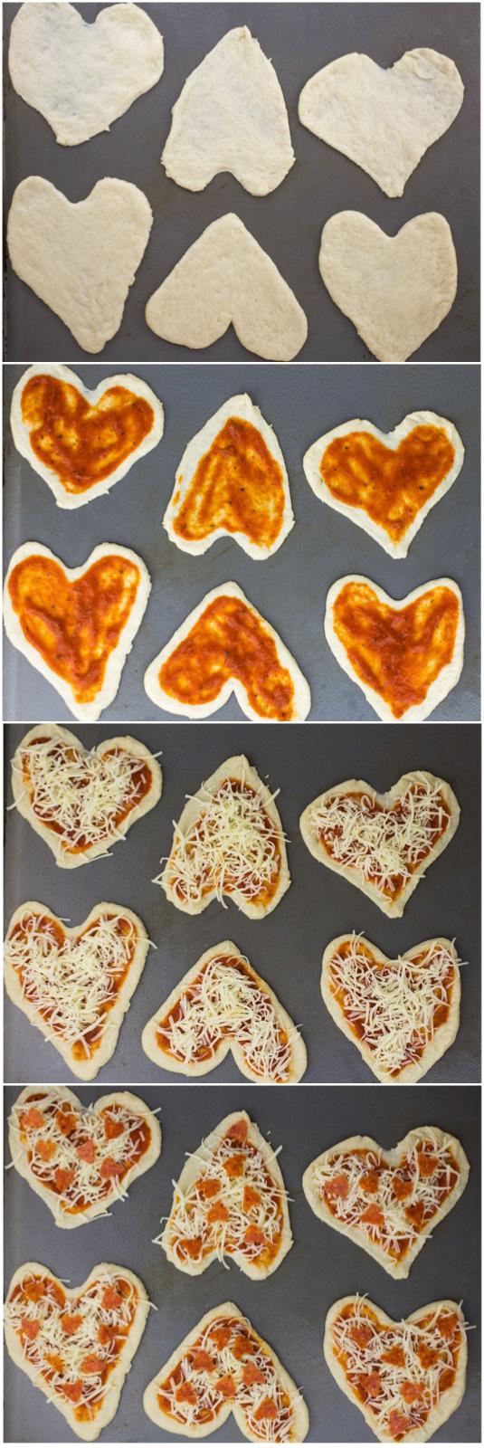 Heart Pizza Steps