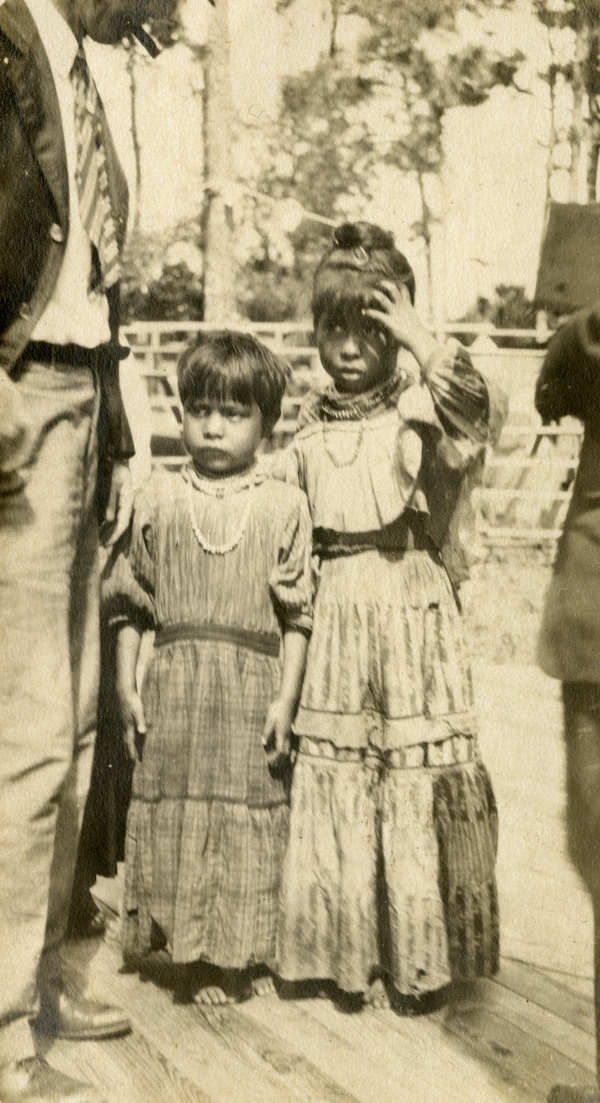 Unidentified Seminole children in Estero, Florida