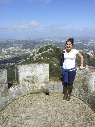 View of the Moorish Castle from Pena Palace, Sintra, Portugal