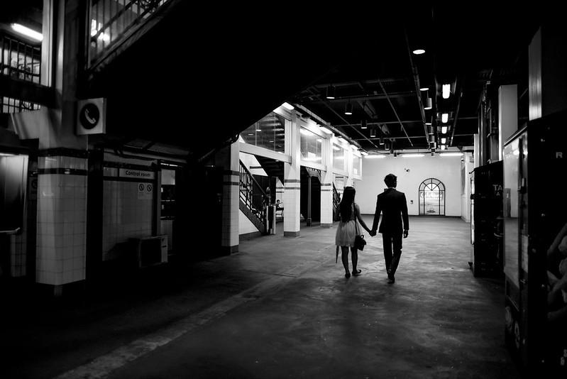 engagement shoot st james station sydney