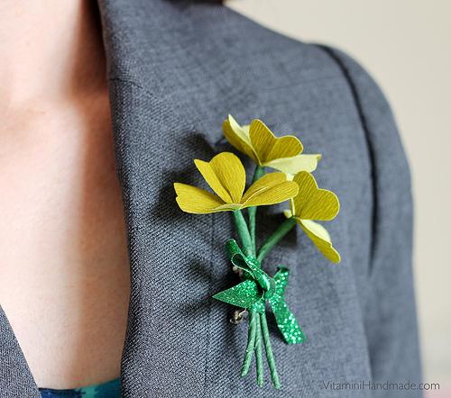 shamrock-corsage