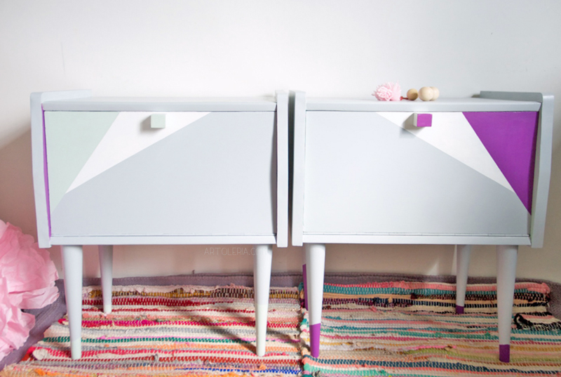 bed side table restyling geometrical Artoleria