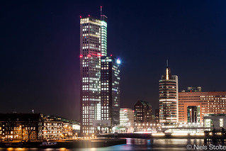 Maastower at Night / Rotterdam, the Netherlands