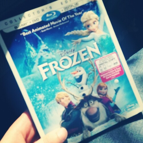 Finally picked up my copy of Frozen! I'll never #letitgo