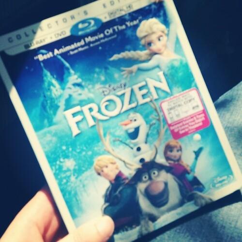 Finally picked up my copy of Frozen! I'll never #letitgo