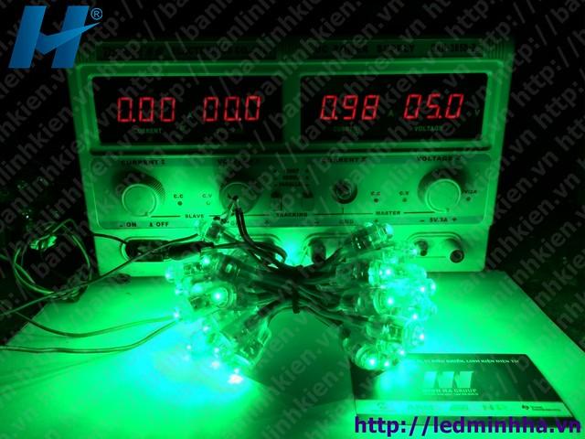 LED Đúc Phi 8 Đế 12 Xanh Lá