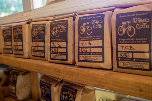 Topanga Creek Bicycles own blend of 10 Speed Coffee