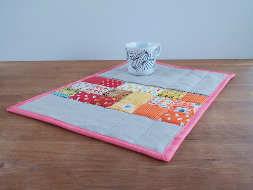 Placemat -  Orange, Pink & Red