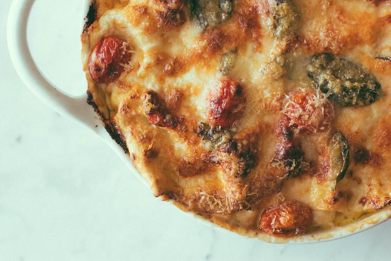 Mozzarella Bufala-Piccadilly Tomato-Basil-Parmesan Lasagna