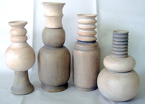Gray & White Wash Vases