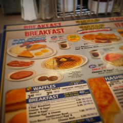 I find it crazy a place with the word #waffle in their name would have more...waffles on the menu? #wafflehouse #breakfast