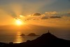 10. October - Cape Cornwall and the Brisons silhouetted against a sunset sky. Photographer: Roy Curtis