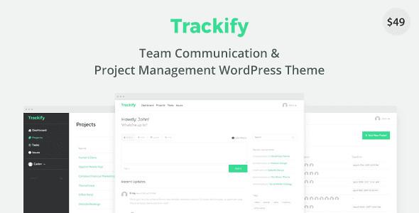 Trackify WordPress Theme free download