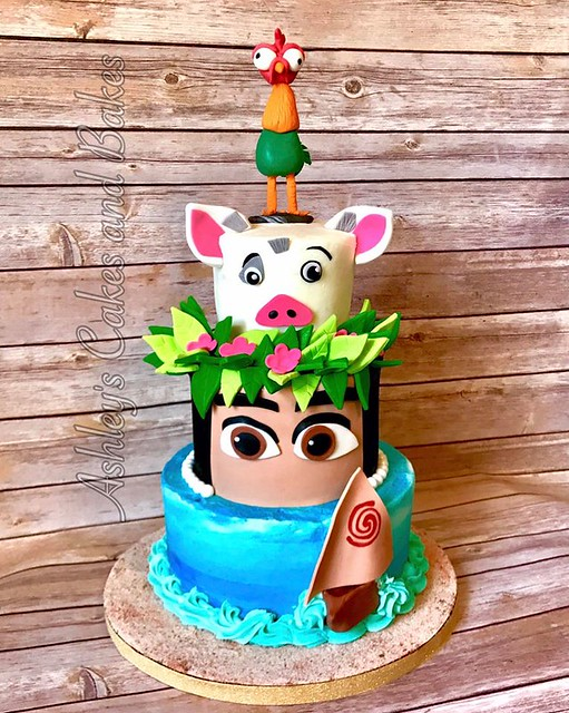 Moana Cake by Ashley's cakes and bakes