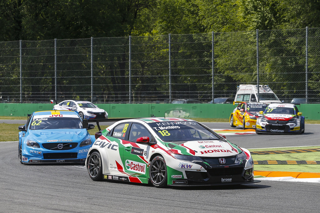18 MONTEIRO Tiago (prt) Honda Civic team Castrol Honda WTC action during the 2017 FIA WTCC World Touring Car Race of Italy at Monza, from April 28 to 30  - Photo Francois Flamand / DPPI
