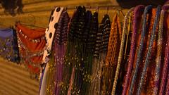 Fancy sequin scarfs in Khan El-Khalili