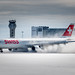 Kicking up some snow: Swiss Airbus A330-300 arrives in Montreal by Patcard