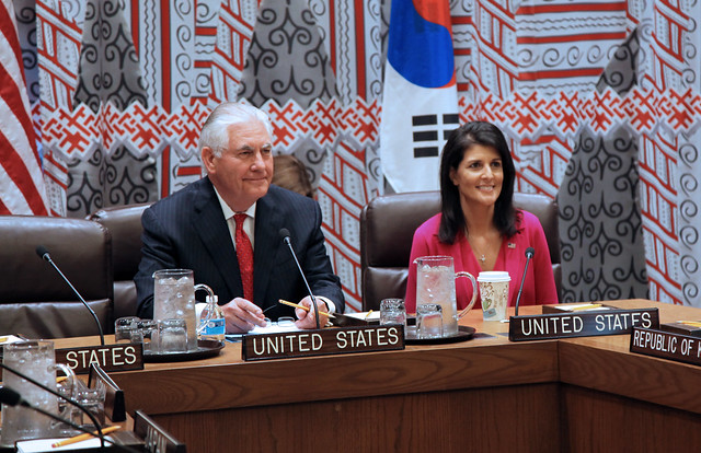 Secretary Tillerson and Ambassador Haley Meet With Korean Foreign Minister Yun and Japanese Foreign Minister Kishida in New York City