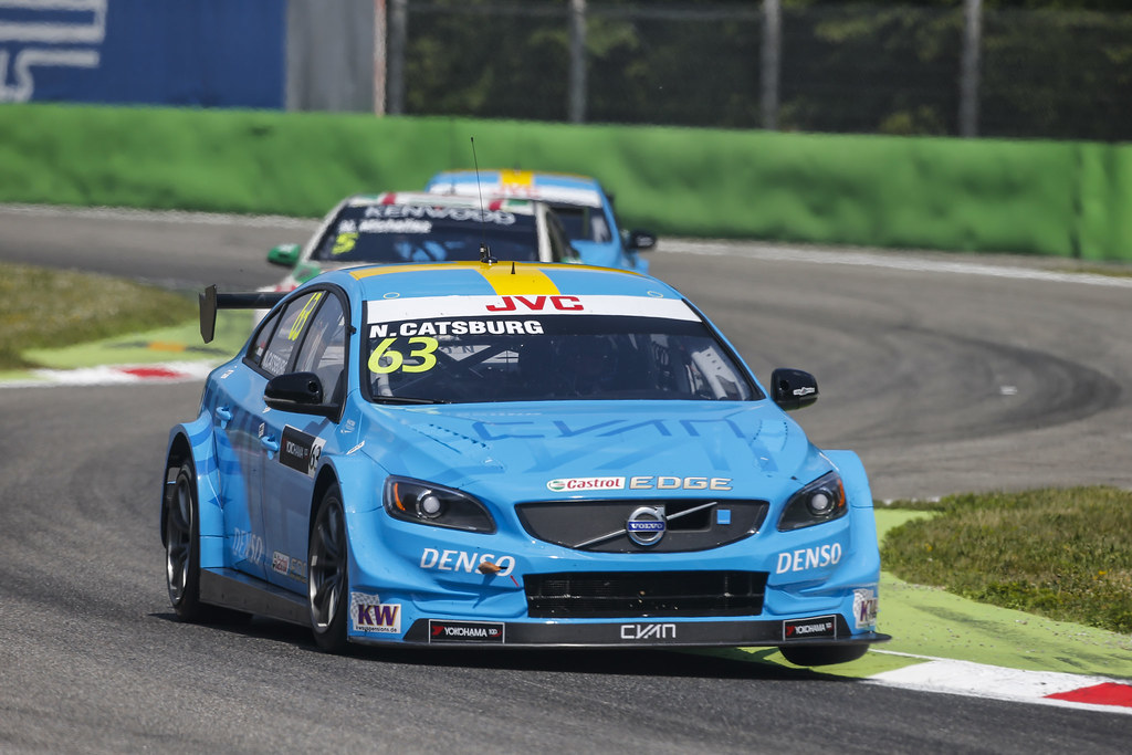 63 CATSBURG Nicky (ned) Volvo S60 Polestar team Polestar Cyan Racing action during the 2017 FIA WTCC World Touring Car Race of Italy at Monza, from April 28 to 30  - Photo Francois Flamand / DPPI