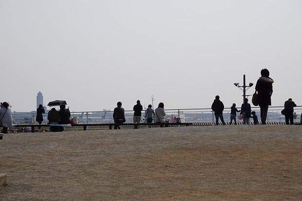 170412 さくらの山公園から見る成田空港