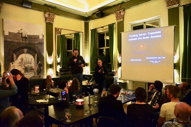 Astronomy on Tap – Dr. Kenworthy explaining the search for habitable planets