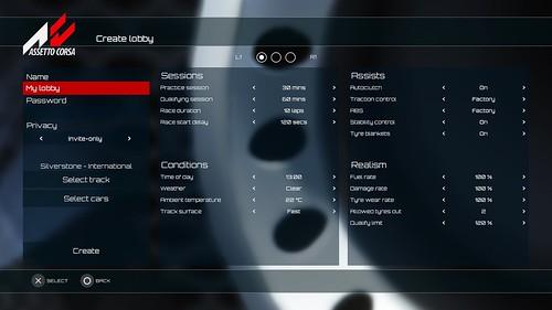 Assetto Corsa console update - Private Lobbies Screen 3