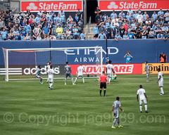 MLS Soccer Game at Yankee Stadium, The Bronx, New York City