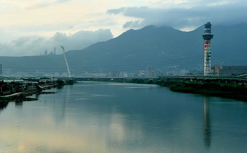 Looking Back Along the Tamsui River