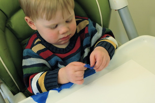 Tape & Paint Creations with Kiddos {Freshly Planted}