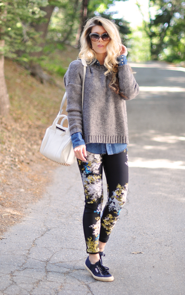 casual chic outfit-alexander wang-madewell-superga-cynthia neoprene wetsuit pants