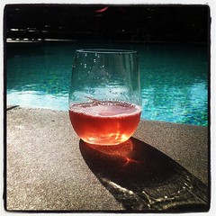 Pool. Glass of Rosé. Warm toes. #California dream. #me